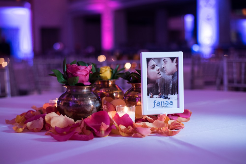 Bollywood Theme Table Decor - Samyika & Arron Sangeet