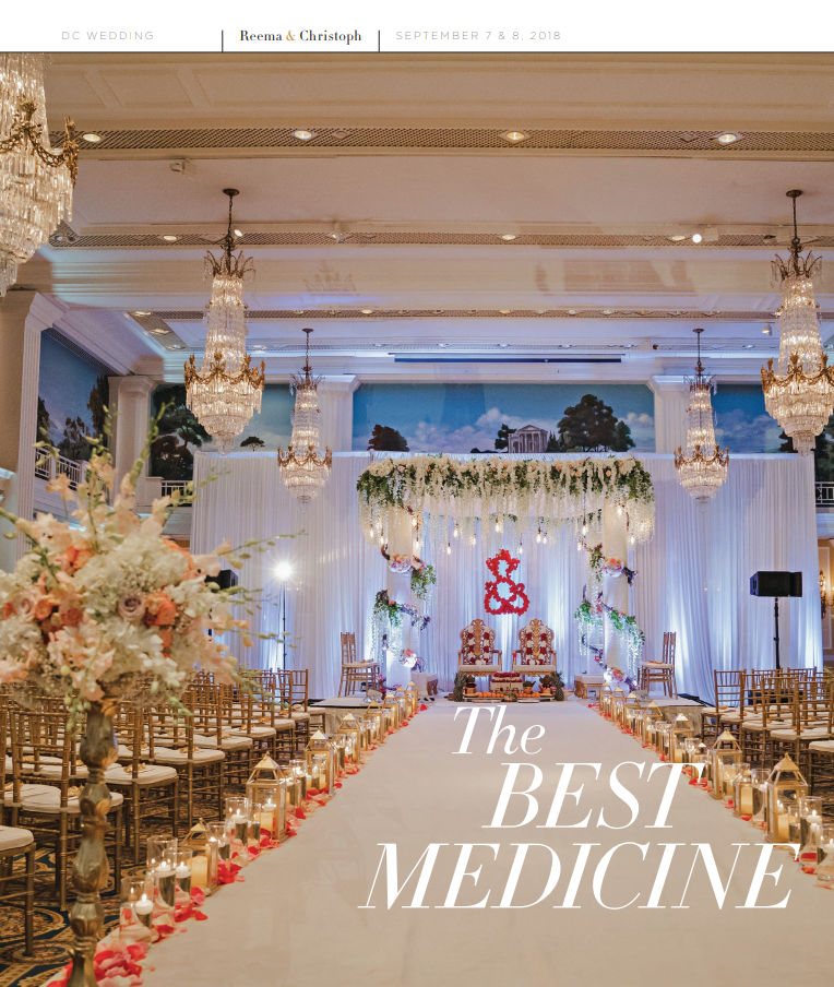 Reema & Christophe - Hindu Catholic Wedding - As Featured on Modern Luxury Wedding